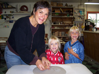 Kids ceramic clay handprint are great for siblings