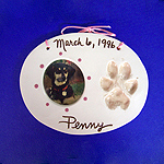 Just for Fun - Pet pawprint and photo frame captured in clay